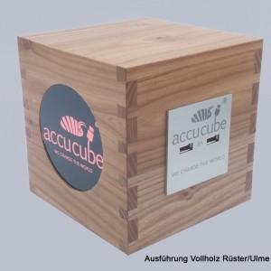 Cube Ausführung Vollholz Rüster-Ulme