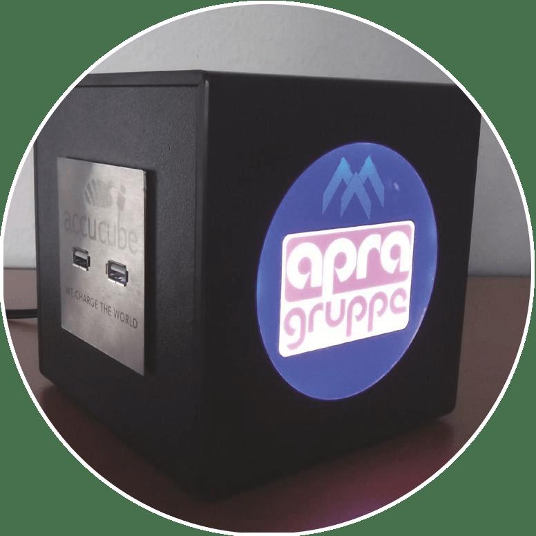 Cube Ausführung APRA Logo